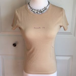French connection 'fcuk it' T-shirt
